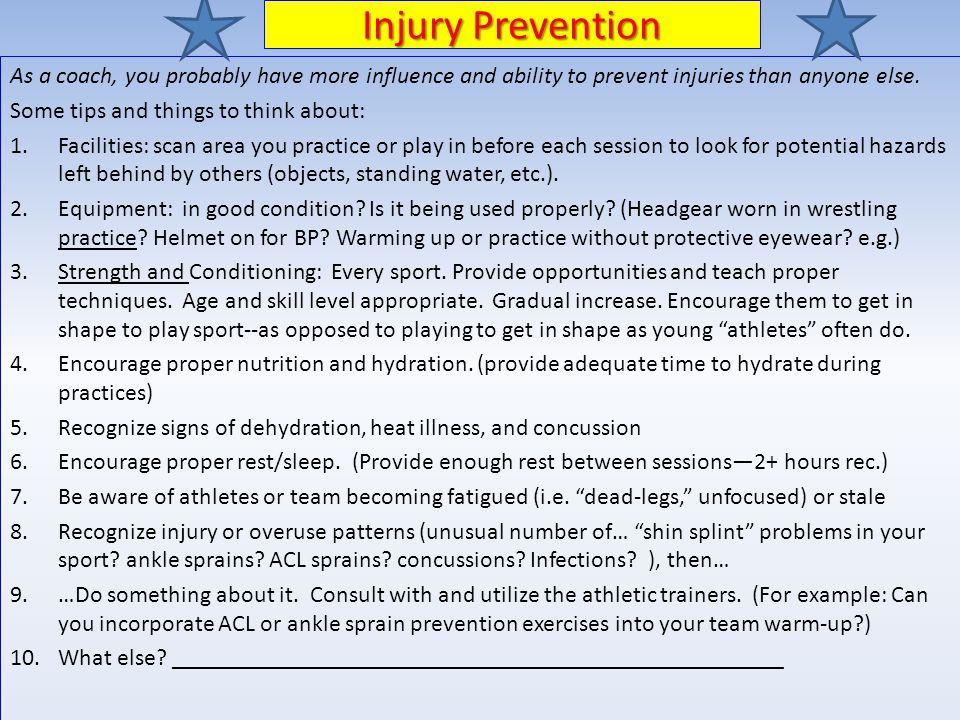 James w robinson athletic training program ppt download 18 injury prevention maxwellsz