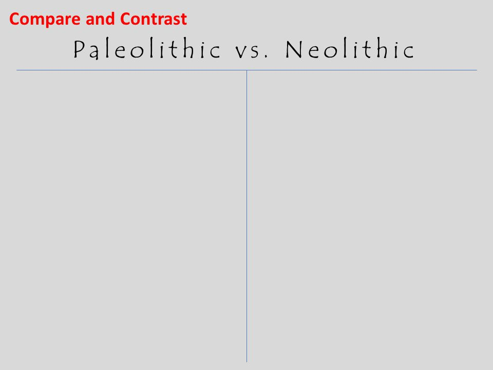 similarities between paleolithic and neolithic age