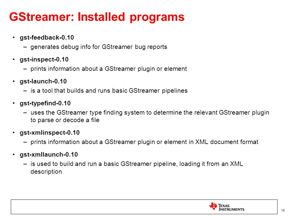 ARM based multimedia using GStreamer & FFmpeg - ppt video