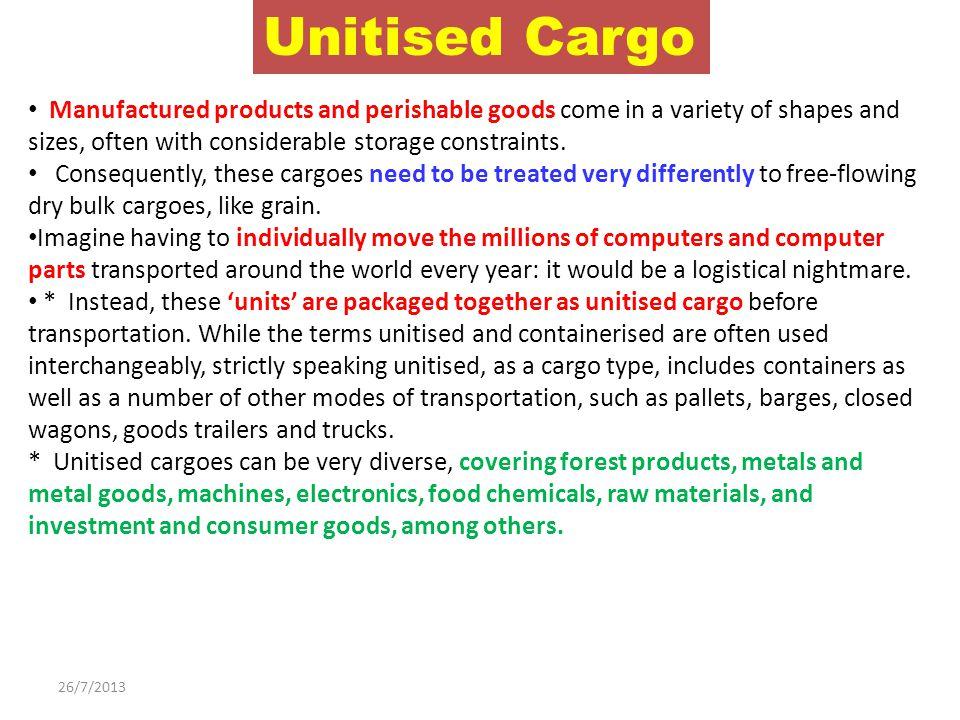 unitized cargo