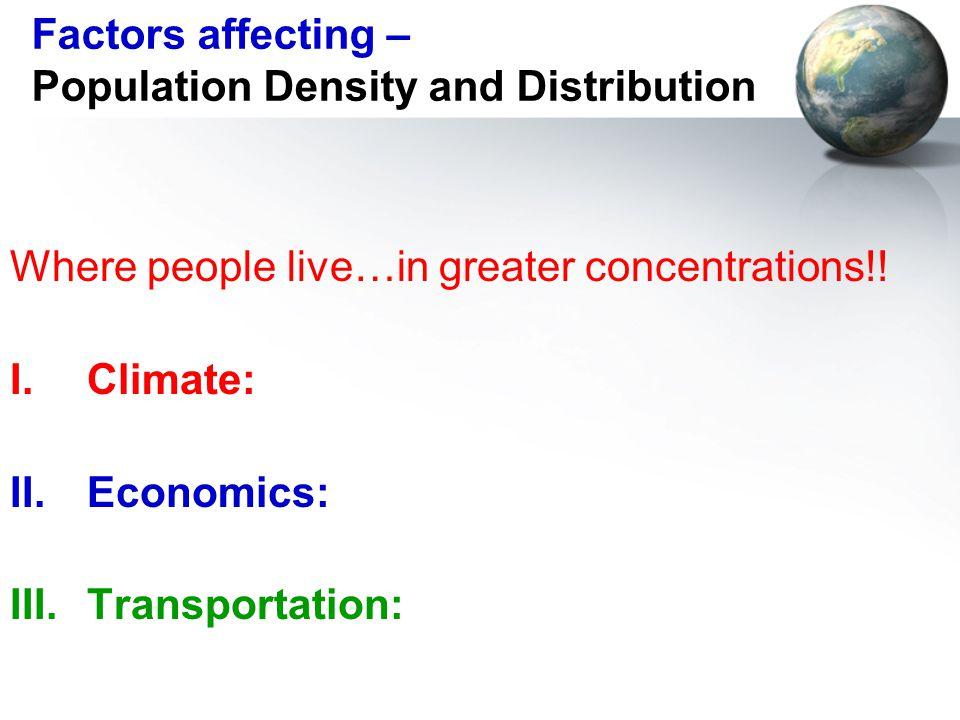 economic factors affecting population distribution