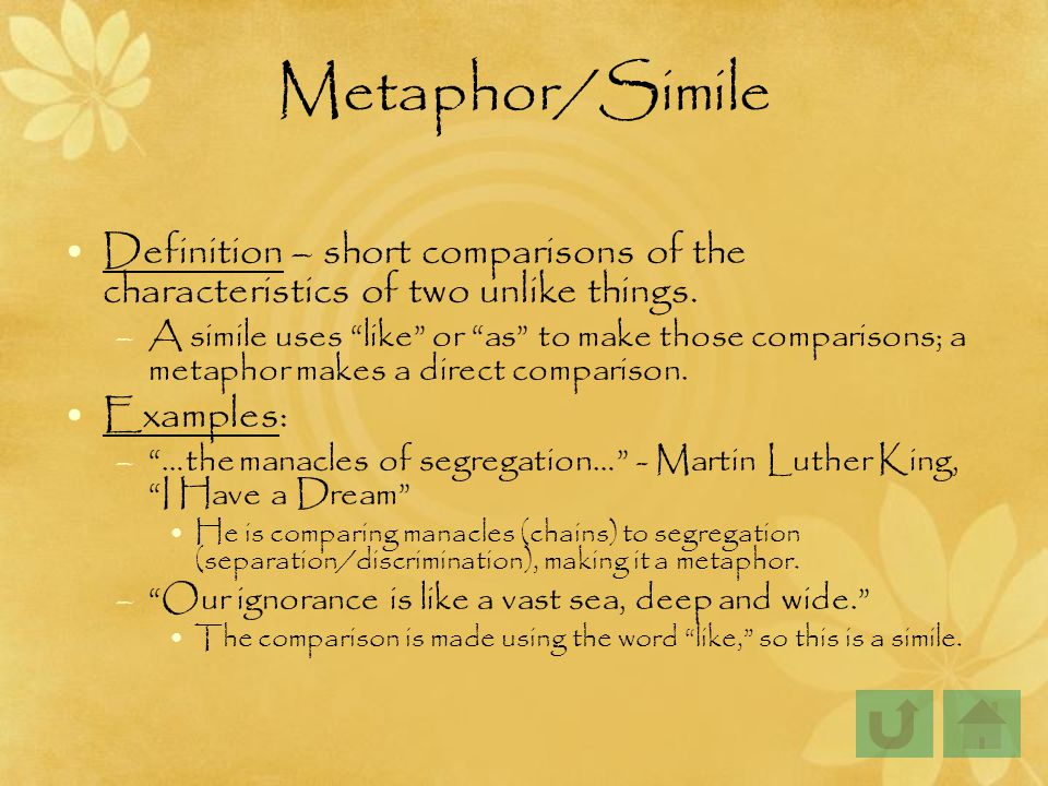 metaphors in mlk speech