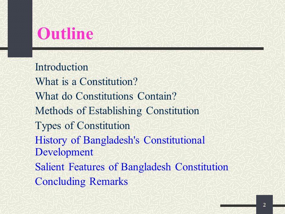 Constitution & Constitutional Development in Bangladesh