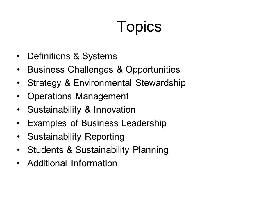 Environmental Sustainability & Operations Management - ppt