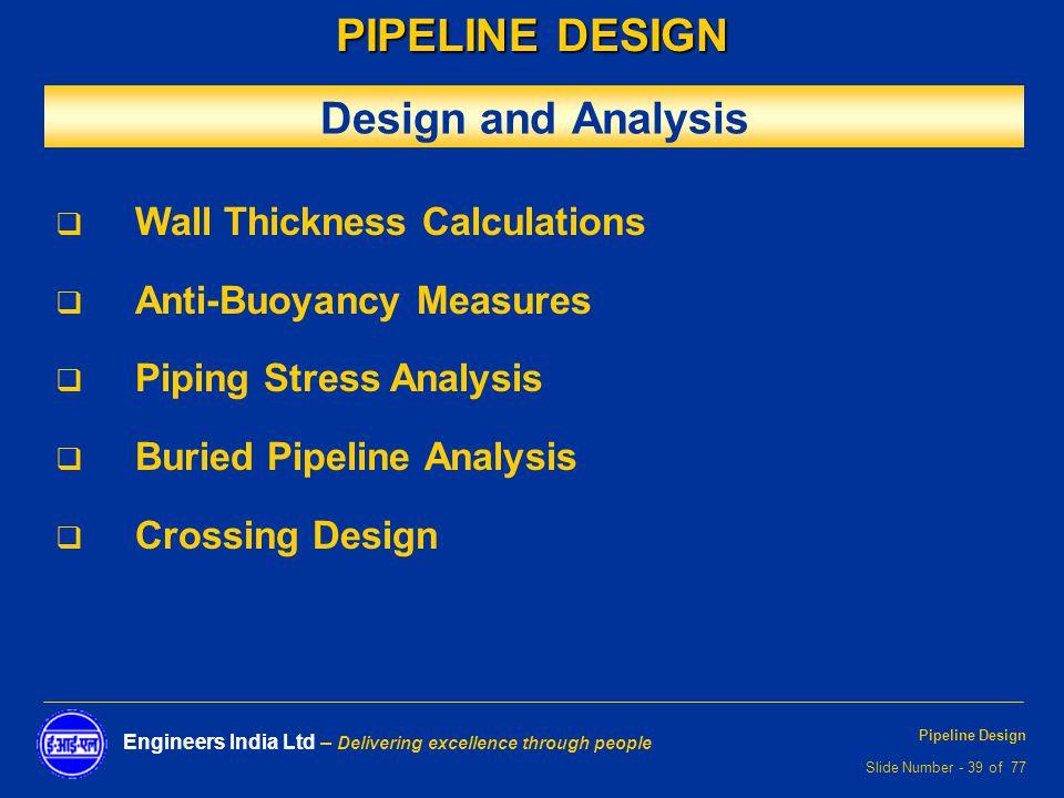 PIPELINE DESIGN  - ppt video online download