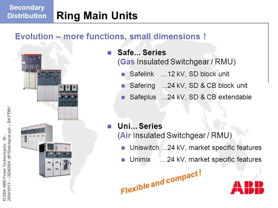 Gas Insulated Switchgear Abb