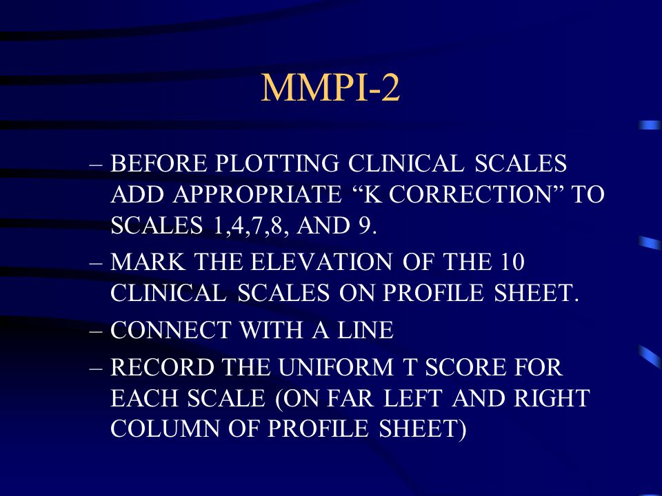 Mmpi-2 answer sheet download