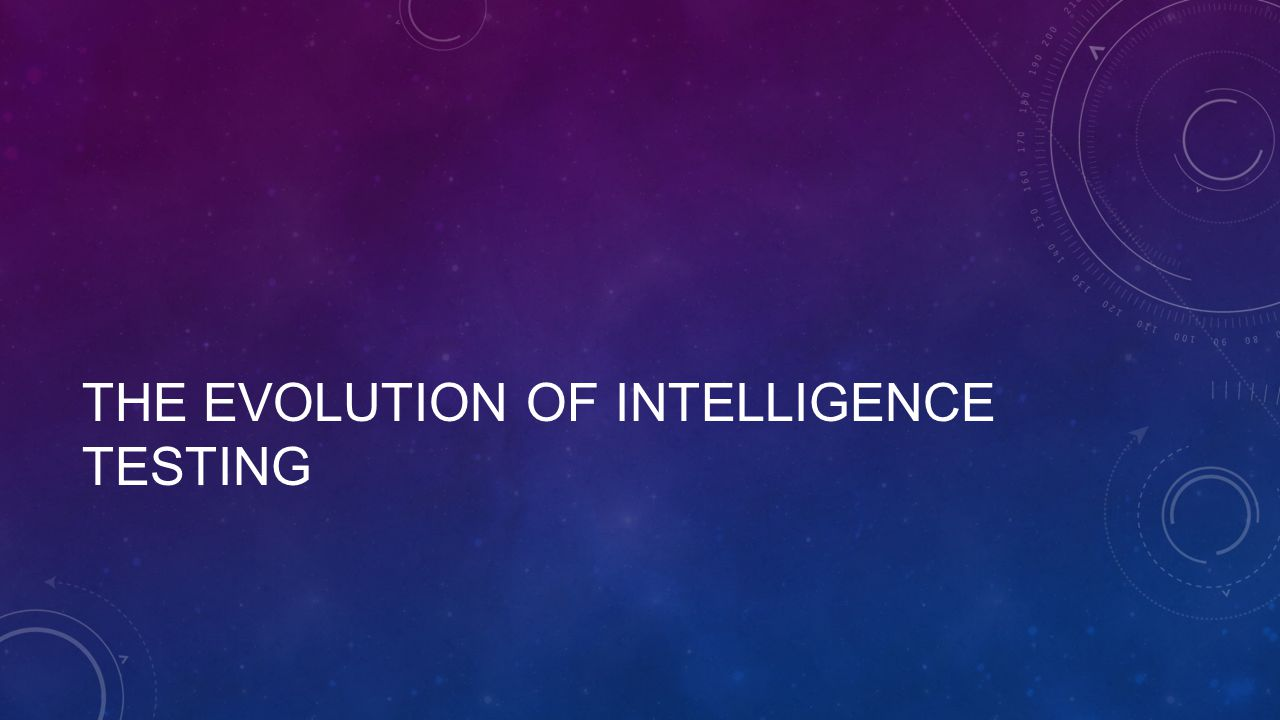 The Evolution of Intelligence Testing