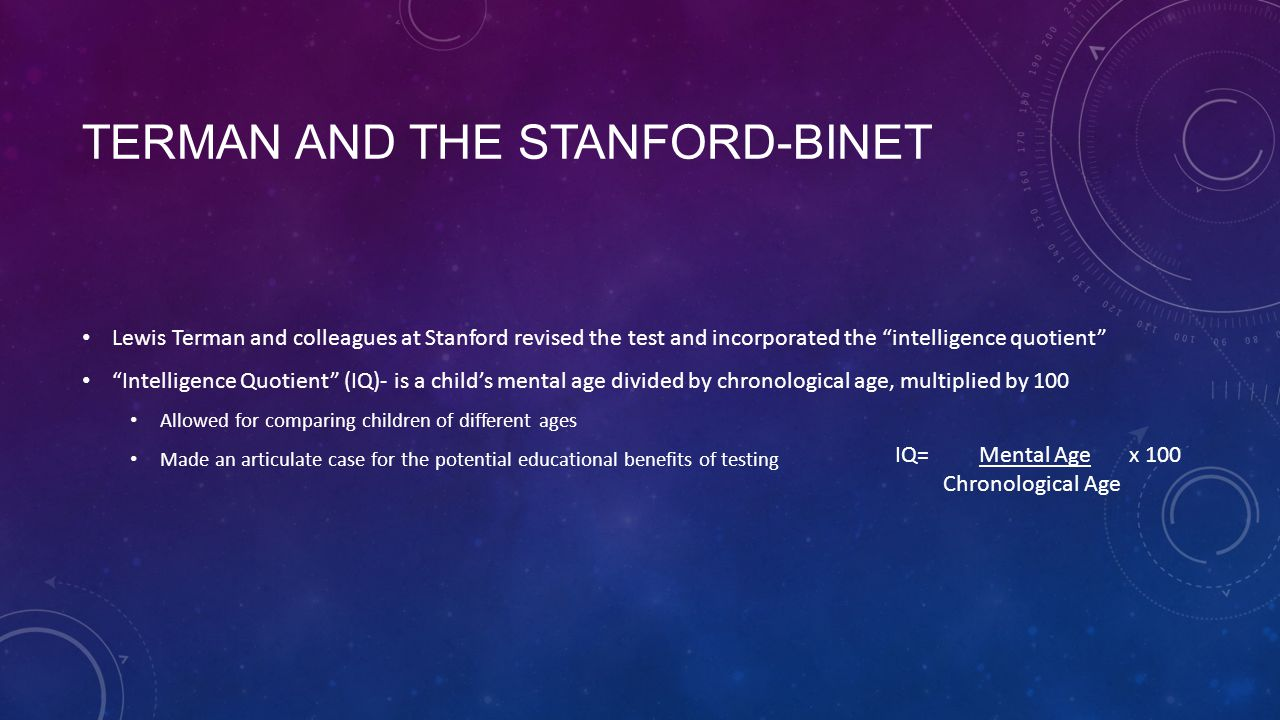 Terman and the Stanford-Binet