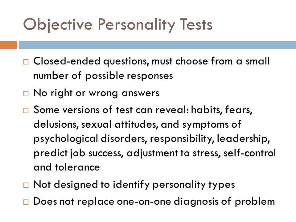 Sexual psychological test