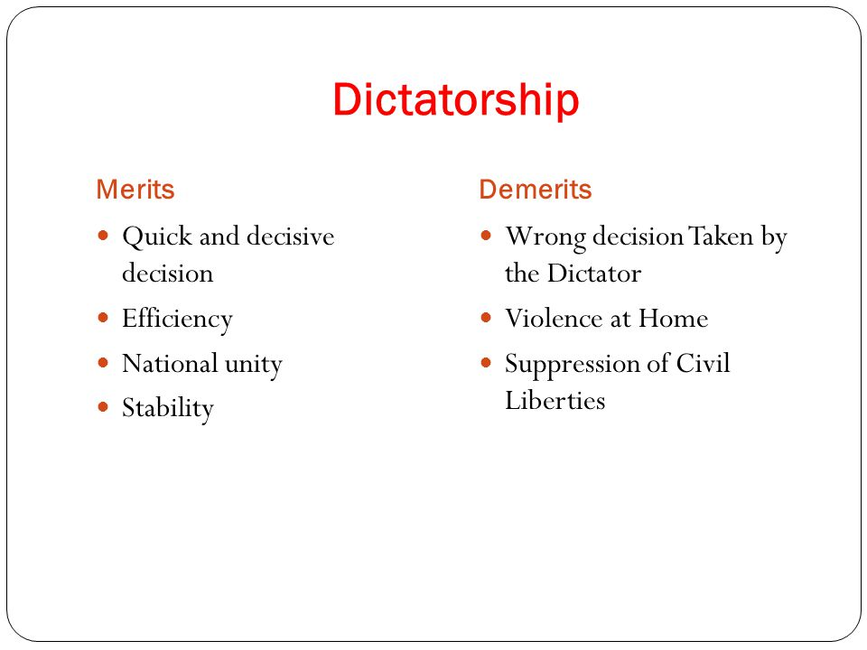 merits and demerits of democratic government