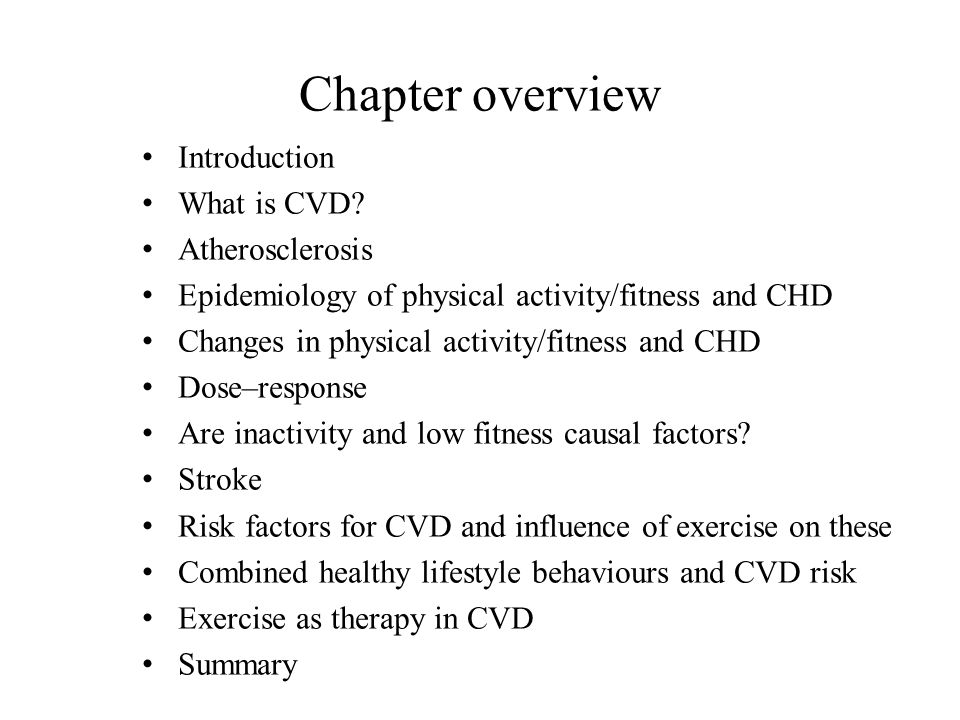 Chapter overview Introduction What is CVD Atherosclerosis