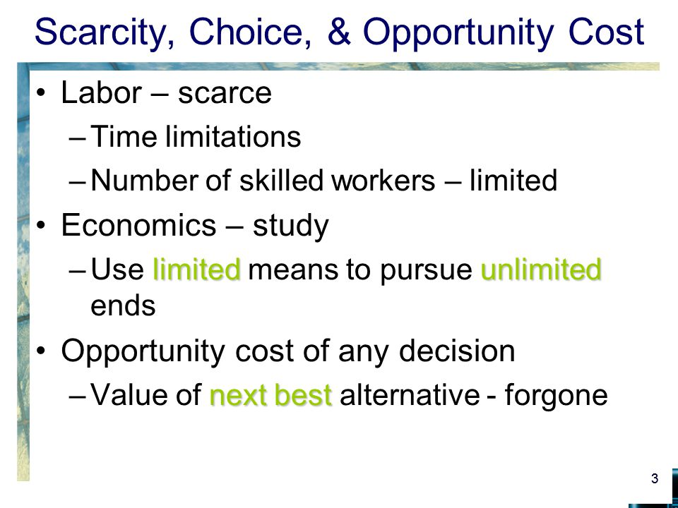 what is scarcity and choice