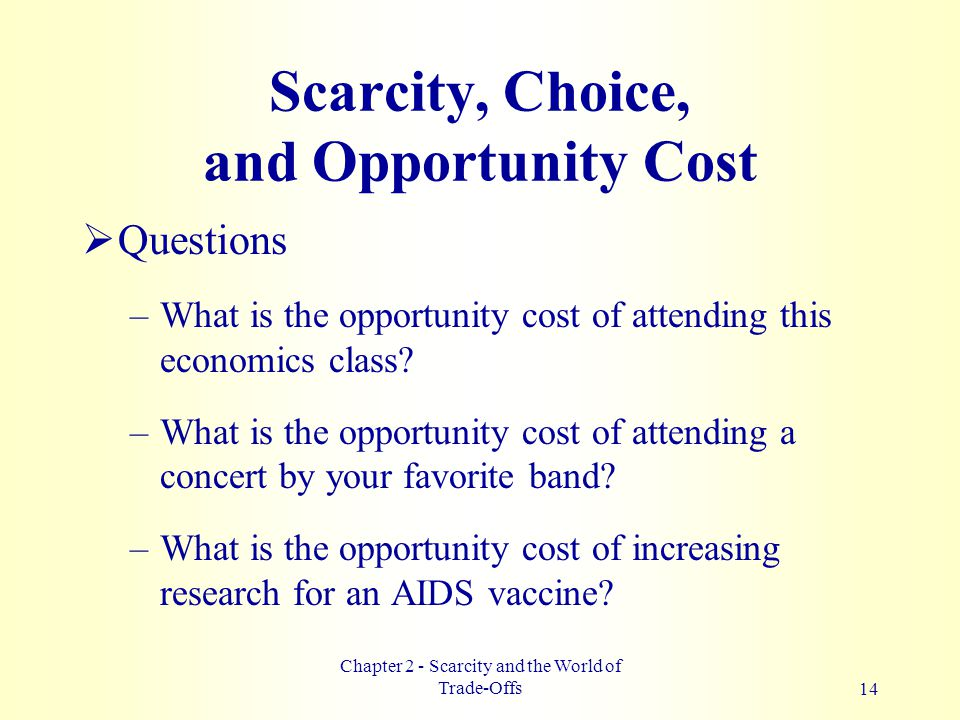 how to get opportunity cost