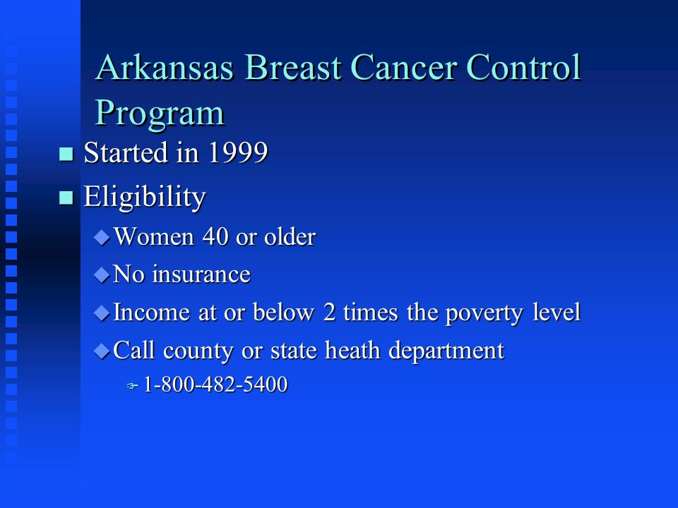 Arkansas Breast Cancer Control Program
