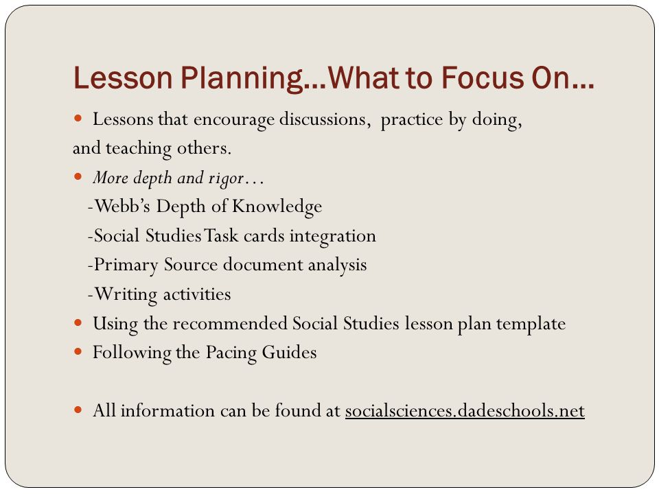 Effective Lesson Planning - ppt video online download