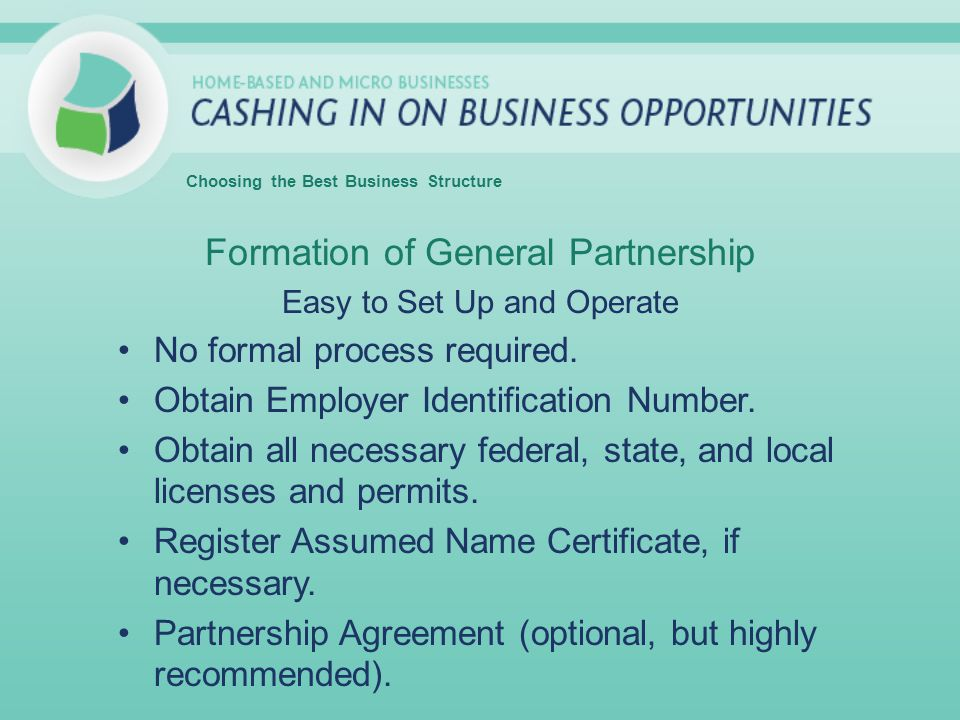 Formation of General Partnership