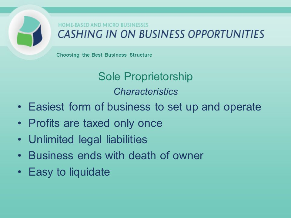 Easiest form of business to set up and operate