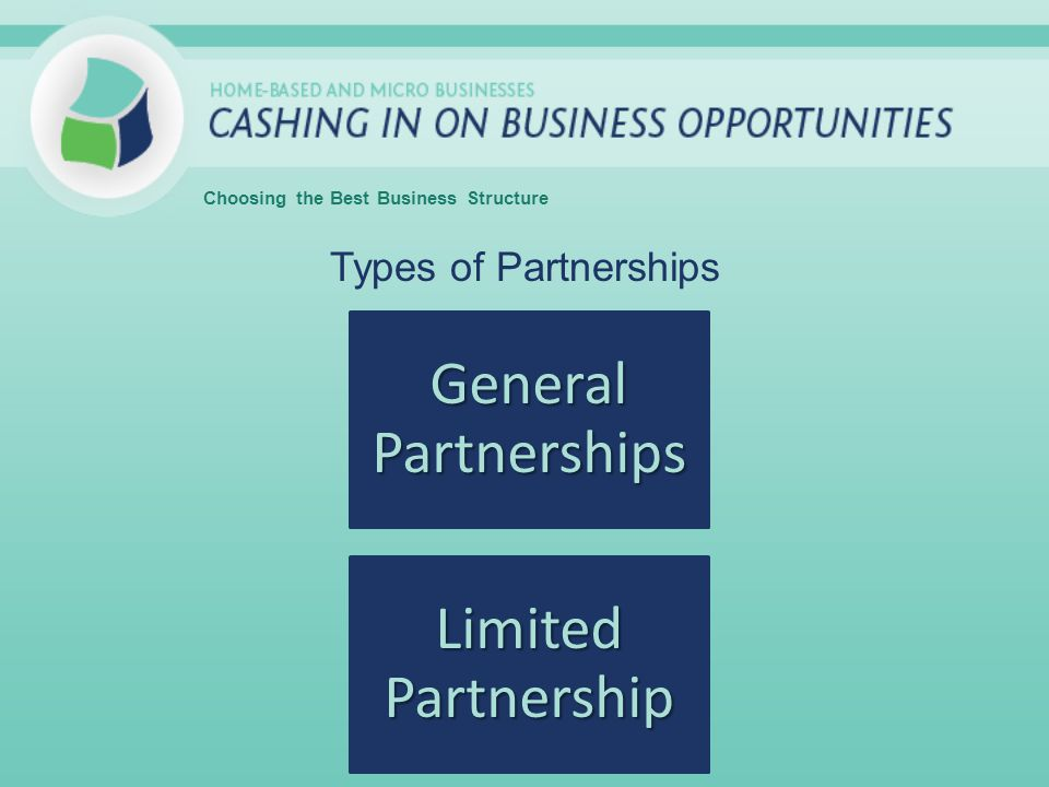 Types of Partnerships Choosing the Best Business Structure