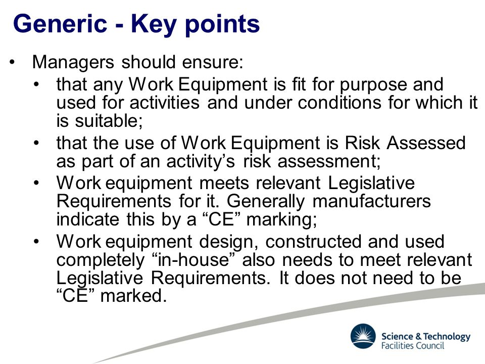 Generic - Key points Managers should ensure: