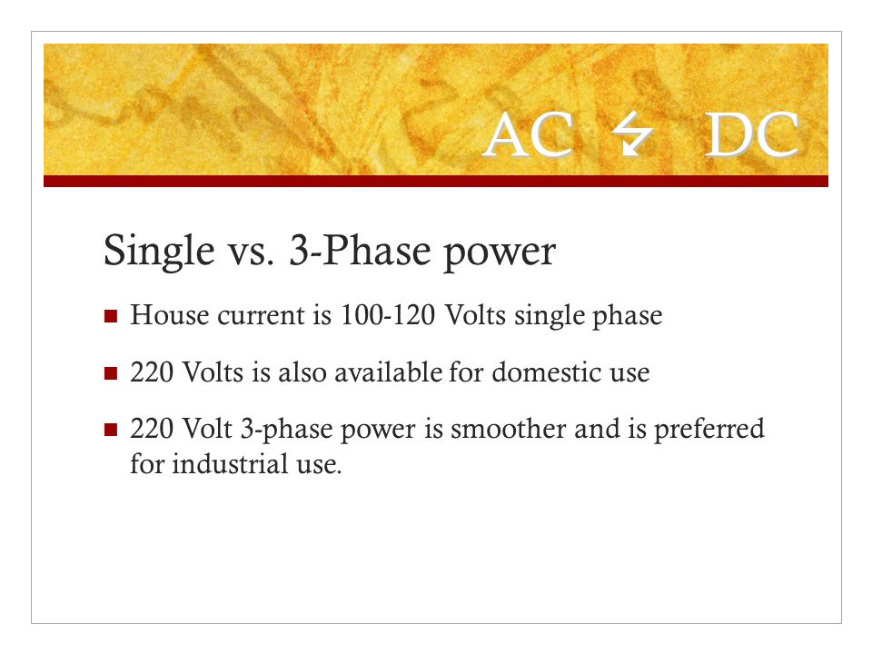 AC 7 DC Single vs. 3-Phase power