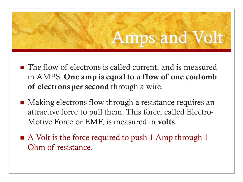 Amps and Volt
