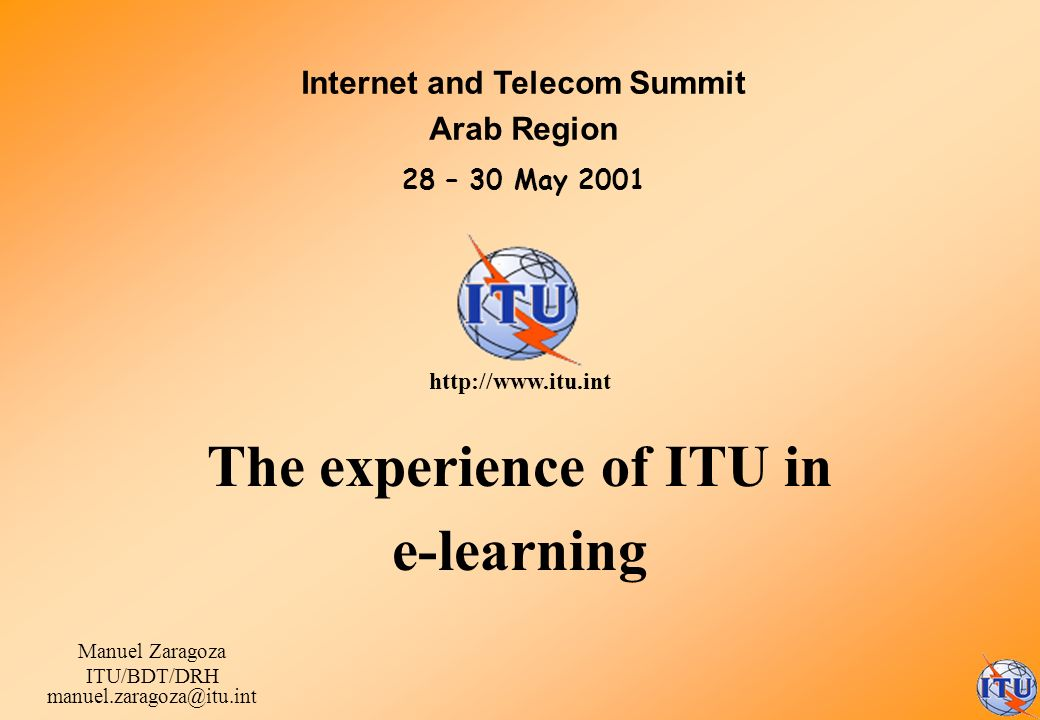 The experience of ITU in e-learning