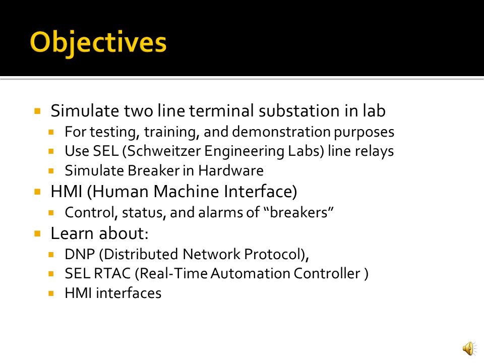 Control and status of simulated breakers using hmi ppt video 2 objectives ccuart Image collections