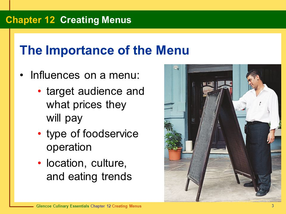 The Importance of the Menu
