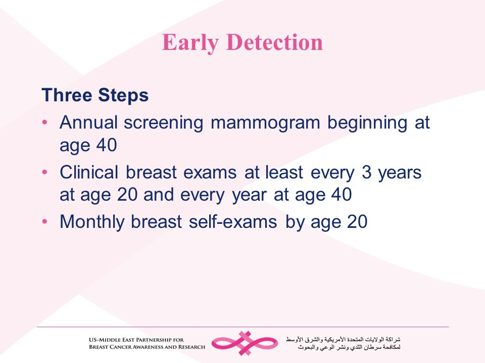 Early Detection Three Steps