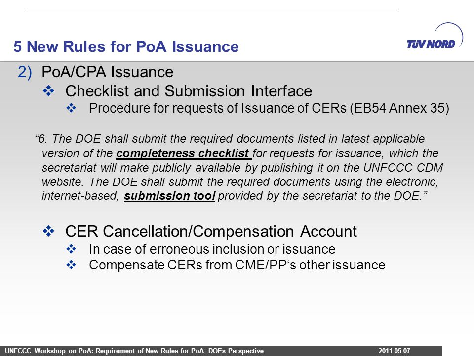5 New Rules for PoA Issuance