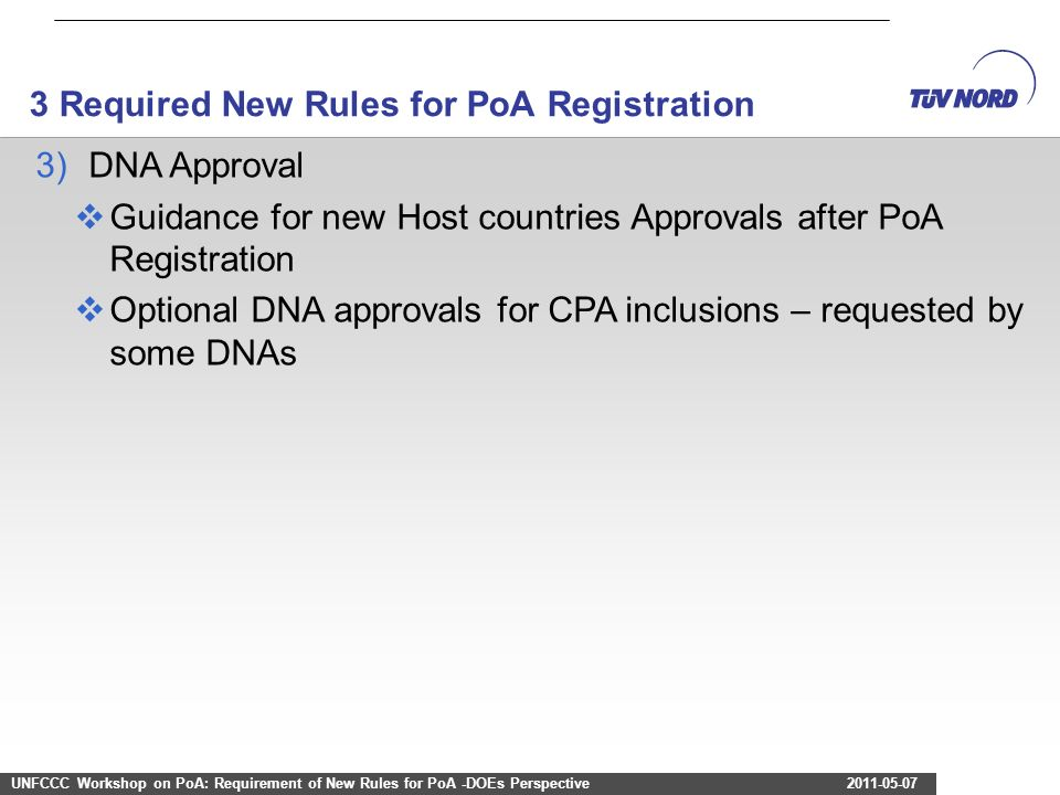 3 Required New Rules for PoA Registration