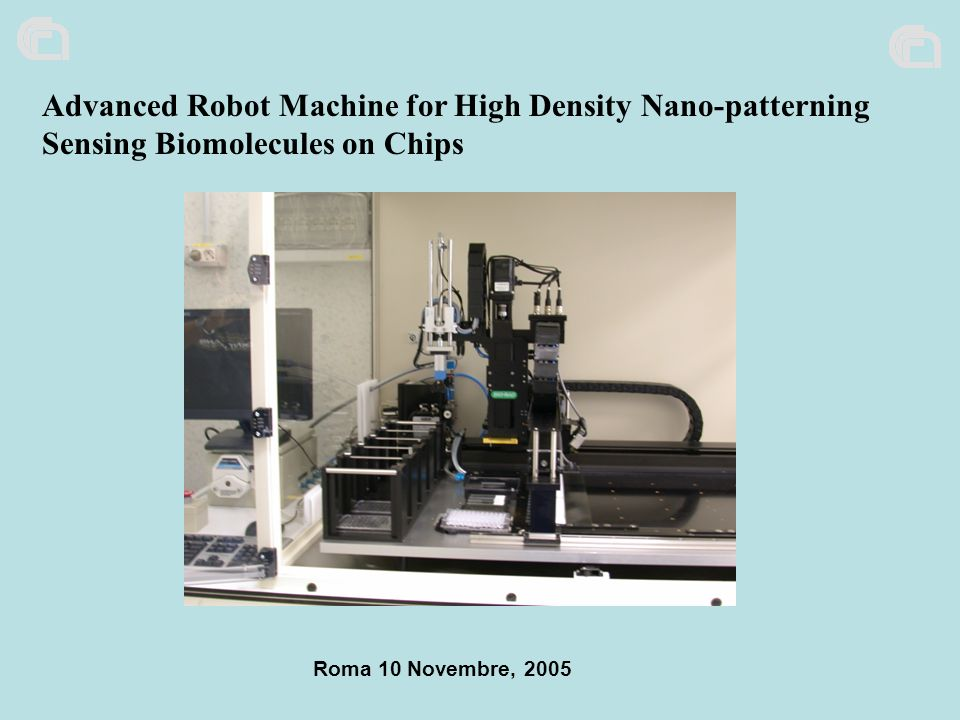 Advanced Robot Machine for High Density Nano-patterning Sensing Biomolecules on Chips