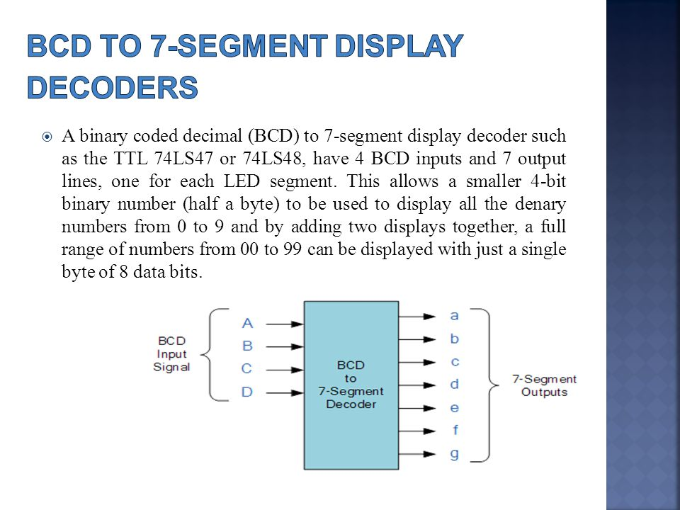 bcd to 7 segment display ppt download