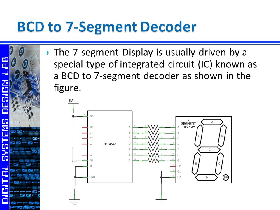 digital outputs 7 segment display ppt video online downloadbcd to 7 segment decoder
