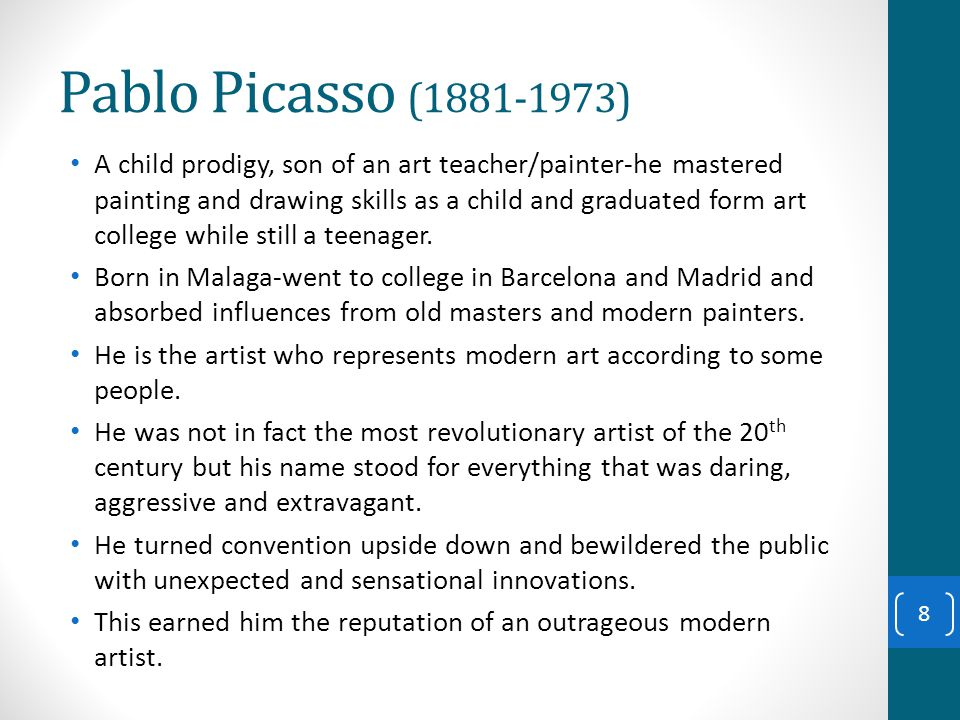 picasso influences