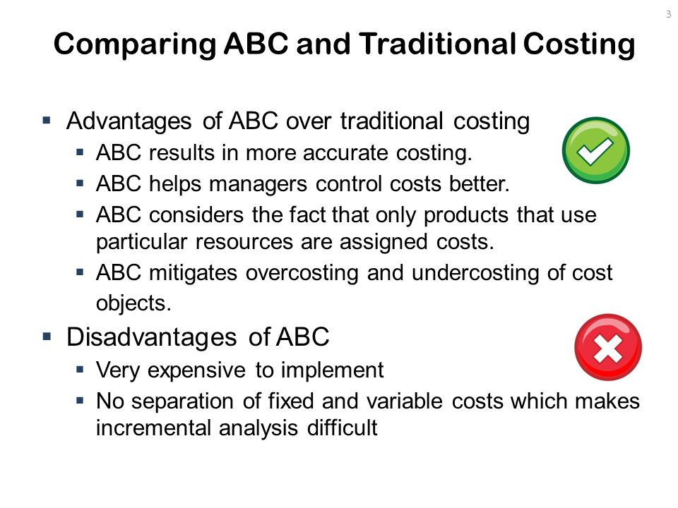 Comparing ABC And Traditional Costing
