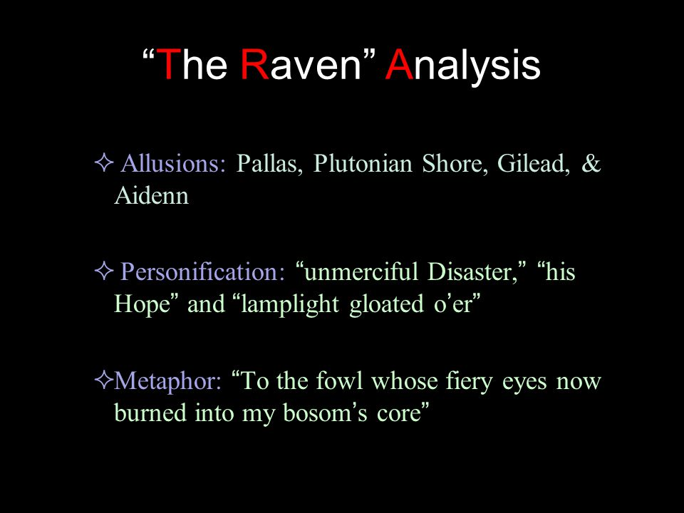 allusion in the raven by edgar allan poe