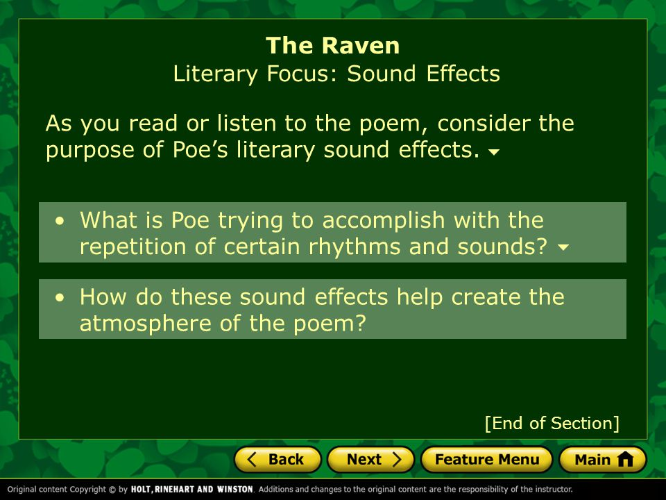 The raven by edgar allan poe ppt download.