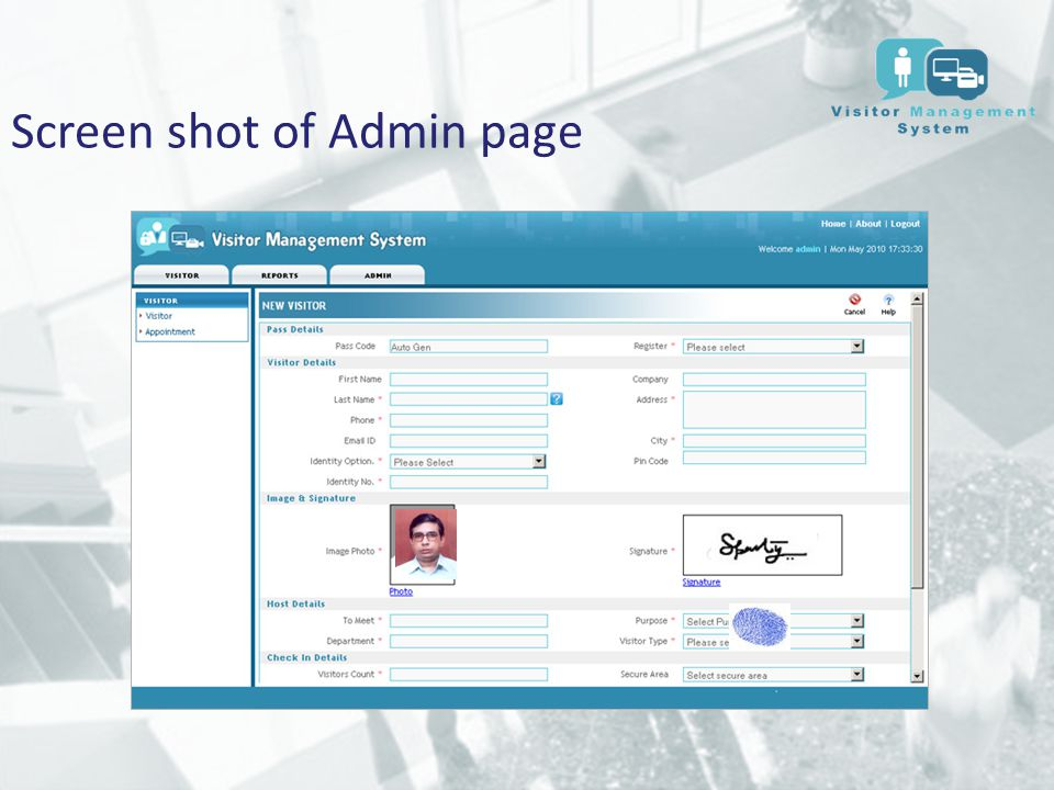 Visitor Management System Ppt Download