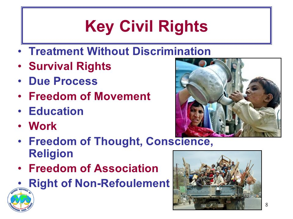 Key Civil Rights Treatment Without Discrimination Survival Rights