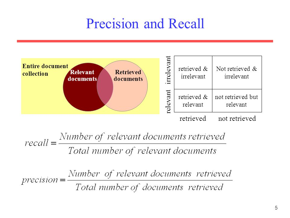 Performance Evaluation of Information Retrieval Systems - ppt video online download