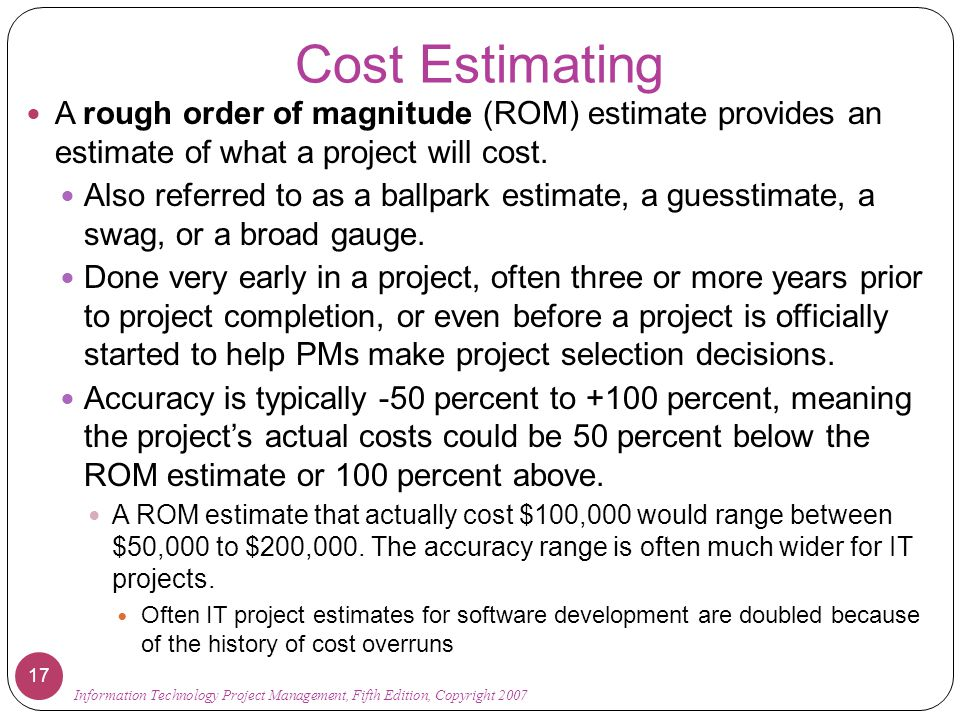 Chapter 7: Project Cost Management - ppt download