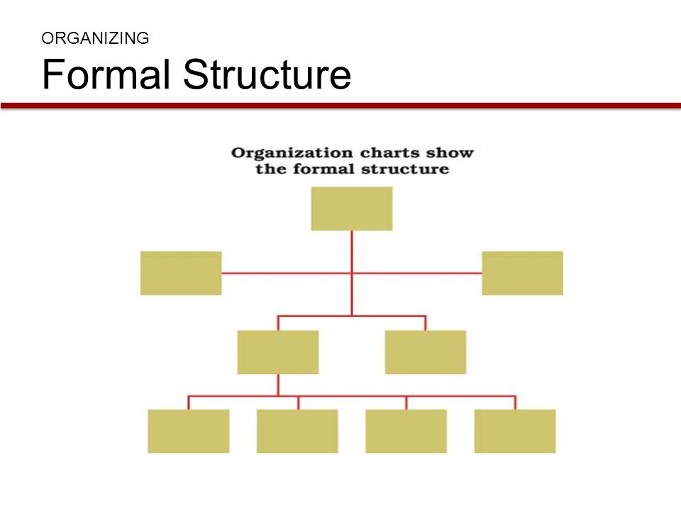 ORGANIZING Formal Structure