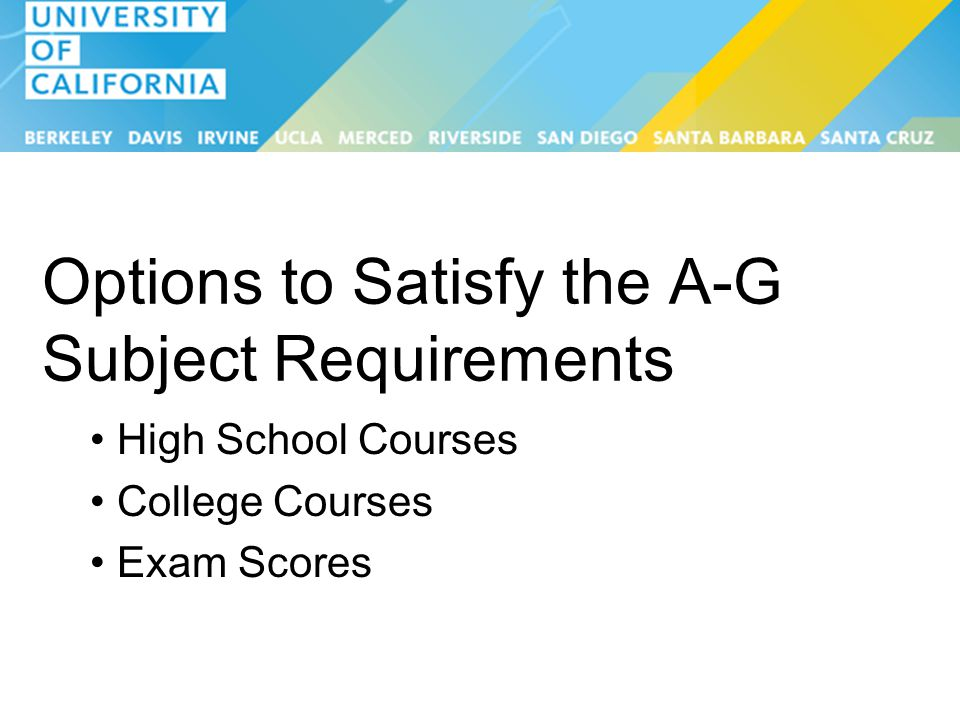 uc a-g courses