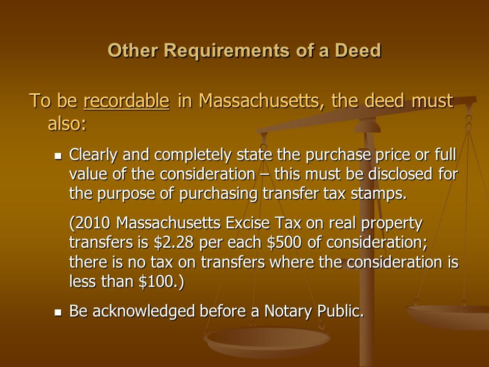 Other Requirements of a Deed