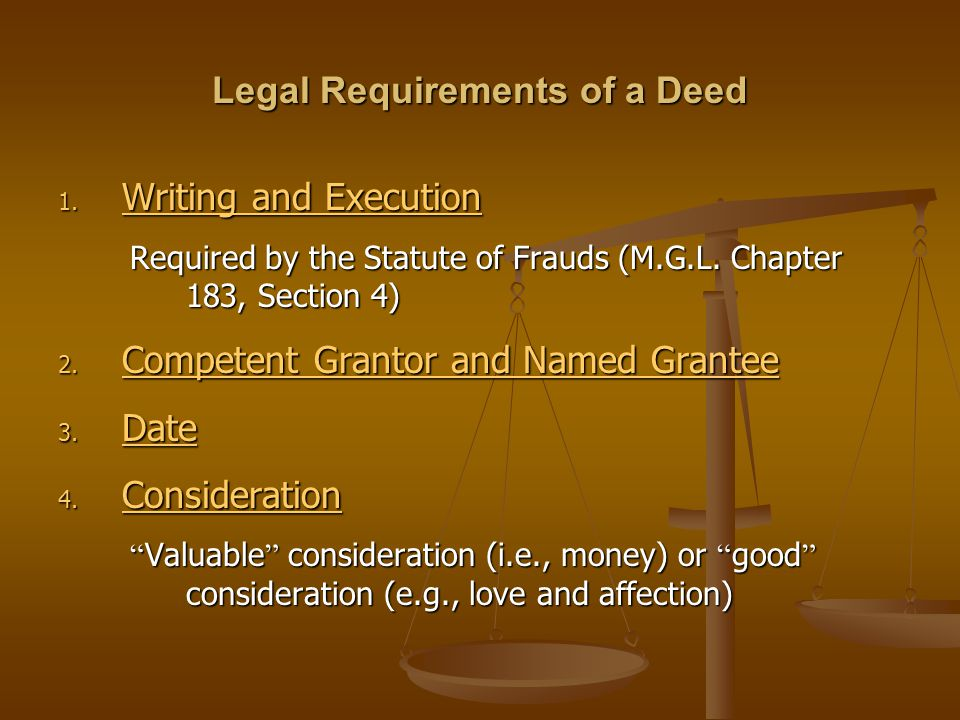 Legal Requirements of a Deed