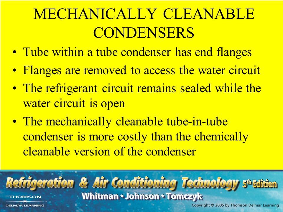 MECHANICALLY CLEANABLE CONDENSERS