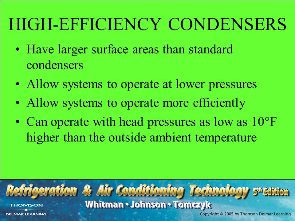 HIGH-EFFICIENCY CONDENSERS