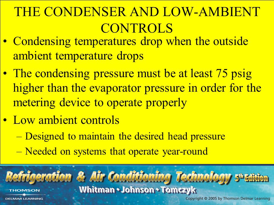 THE CONDENSER AND LOW-AMBIENT CONTROLS